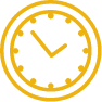 Orange clock icon